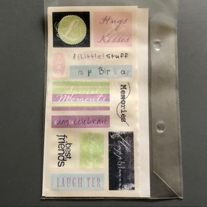 Creative Memories Tinted Title Scrapbook Stickers